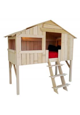 Lit Cabane Enfant Massif Brut - Mathy by Bols