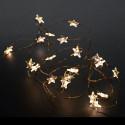 Guirlande Lumineuse 20 LEDs Etoile Fil Cuivre