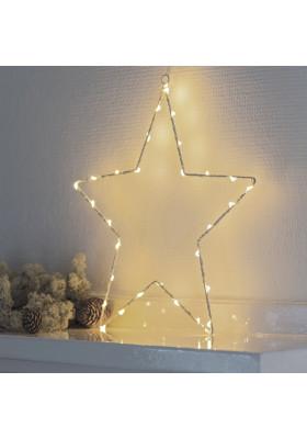 Etoile Lumineuse 40 LEDs Fil Blanc Liva Star