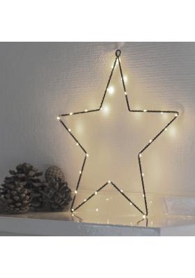 Etoile Lumineuse 40 LEDs Fil Noir Liva Star