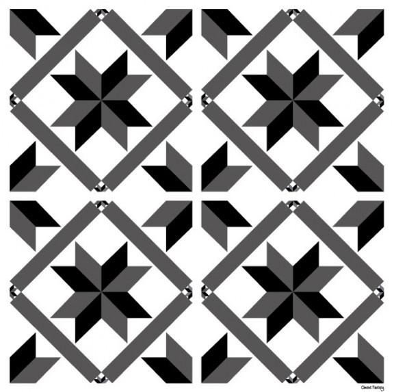 Sticker Carreaux de Ciment Marguerite - Ciment Factory