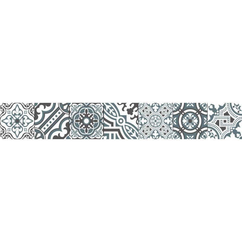 contremarches adh sives carreaux de ciment madeleine. Black Bedroom Furniture Sets. Home Design Ideas