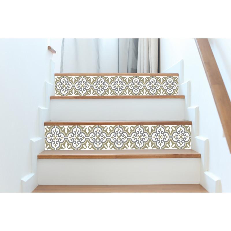 contremarches adh sives carreaux de ciment simone. Black Bedroom Furniture Sets. Home Design Ideas