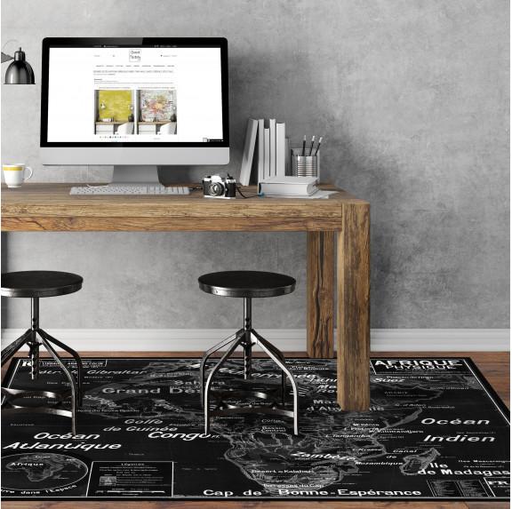 Tapis Vinyle Carte Scolaire Vidal Lablache n°16 - Afrique Physique - Ciment Factory