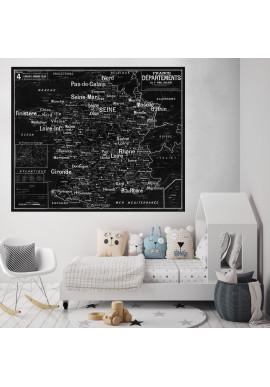 Carte Scolaire Murale Vidal Lablache n°4 - France - Départements - Ciment Factory