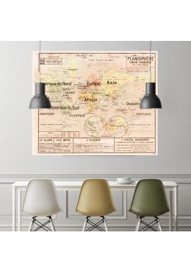 Carte Scolaire Murale Vidal Lablache n°22 - Planisphère - Original - Ciment Factory