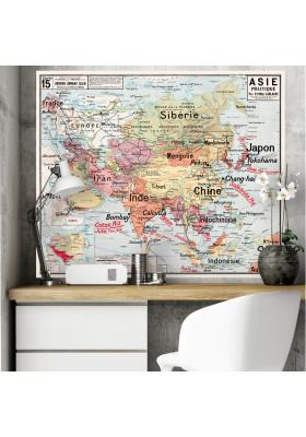Carte Scolaire Murale Vidal Lablache n°15 - Asie Politique - Original - Ciment Factory