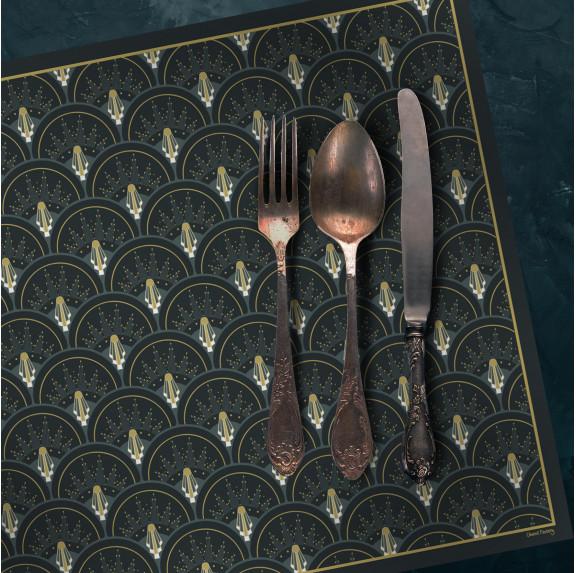 Set de Table Art Déco - Jean - Ciment Factory