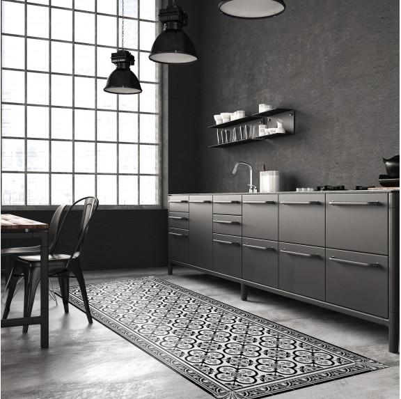 Tapis Vinyle Carreaux de Ciment Garance - Ciment Factory