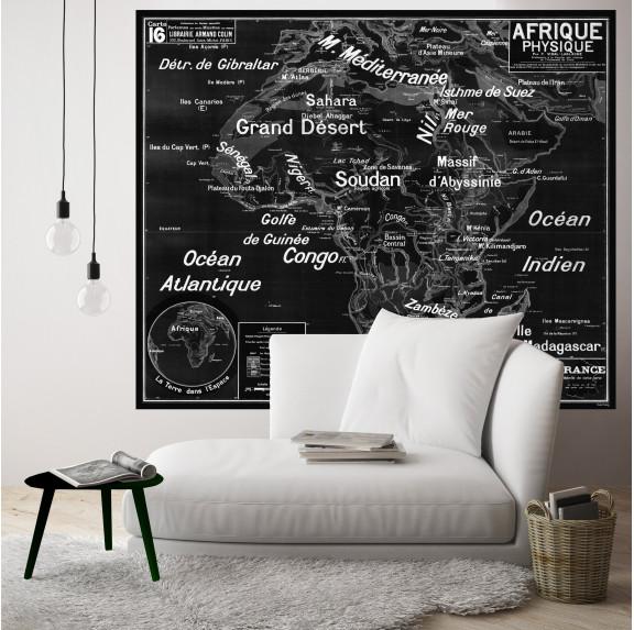 Carte Scolaire Murale Vidal Lablache n°16 - Afrique Physique - Ciment Factory
