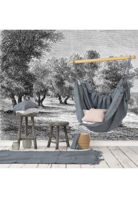 Papier Peint Panoramique - Gravure - Les Oliviers - Ciment Factory
