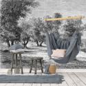 Papier Peint Panoramique Sur Mesure - Gravure - Les Oliviers