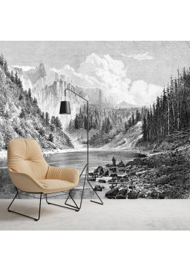 Papier Peint Panoramique Sur Mesure - Gravure - Montana