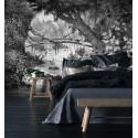Papier Peint Panoramique Sur Mesure - Gravure - Jungle - Ciment Factory