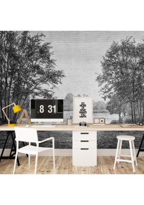 Papier Peint Panoramique Sur Mesure - Gravure - Boulogne