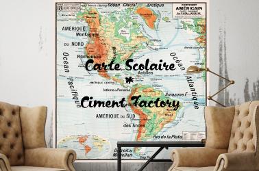 Carte Scolaire Vidal Lablache - Ciment Factory